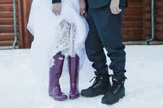 These Hunter Boots couldn't be cuter for this winter wedding   June Lake Wedding // Mammoth Wedding //  Winter Wedding