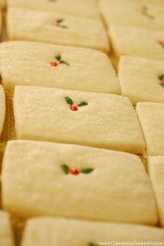 vanilla bean shortbread cookies..