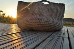 Big Crochet Basket Louis Vuitton Damier, Basket, Big, Crochet, Pattern, Fashion, Moda, Fashion Styles, Patterns