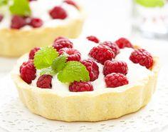 Fresh raspberry tart :)