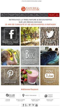 Nature & Découvertes - Avril 2015 objet : Retrouvez la tribu Nature & Découvertes sur les médias sociaux !