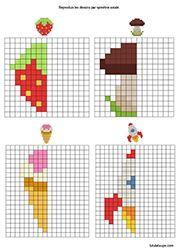 Exercices ludiques imprimer sym trie sur quadrillage geometrir diagram et floor plans - Symetrie a imprimer ...