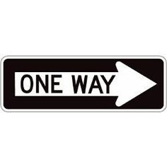 This sign is used to advice a driver what way they can go. Drivers see this on a daily basis and all know the meaning behind this symbol.   http://forgotten-ny.com/1999/09/one-way-evolution-one-way-signs-through-the-years/