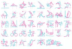 38 2012 London olympics pictograms, designed by SomeOne