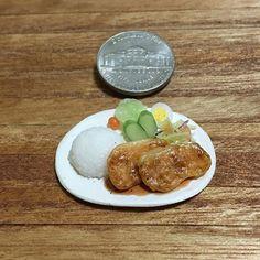#ポークソテー #プレートランチ #ワンプレート #定食 #豚肉 #ご飯 #pokusote #pork #rice #platelunch  #handmade #claywork #miniature #fakefood