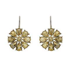 Boucles d'oreilles fleurs en Argent et Citrines - Idée cadeau de ShalinIndia, http://www.amazon.fr/gp/product/B00B1NY0MY/ref=cm_sw_r_pi_alp_FbJerb0YE0FMT