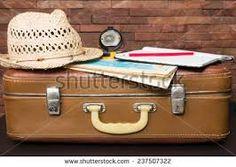 Risultati immagini per use old luggage as background
