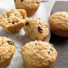 Instead of oat or bran muffins, try these moist breakfast treats to fuel your morning. Substitute other chopped dried fruit for the raisins, if you like.