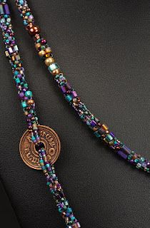 NEDbeads: ColorPlay Ropes - Cubic Right Angle Weave. Gorgeous idea for seed bead soup :)