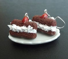 Devil Dogs Cream Filled Chocolate Cake with Cherry on by NyxAiko, $7.00