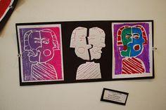 styrofoam print - like  the triptych variations