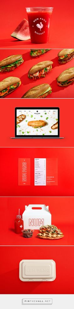 Num Pang Sandwich Shop Branding by High Tide | Fivestar Branding Agency – Design and Branding Agency & Curated Inspiration Gallery #branding #brand #designinspiration #design #restaurantbranding