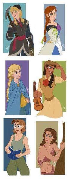 Príncipes Disney chica