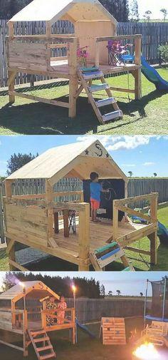 pallets wooden kids playhouse for garden garden kids Loading. - pallets wooden kids playhouse for garden garden kids Loading… You are in the right place - Kids Outdoor Play, Backyard For Kids, Backyard Projects, Diy Pallet Projects, Outdoor Projects, Garden Projects, Woodworking Projects, Garden Kids, Woodworking Furniture