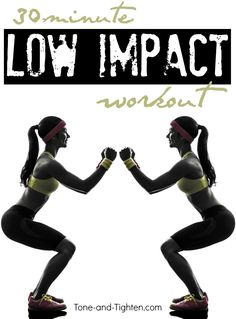30-minute low-impact cardio workout you can do at home! From Tone-and-Tighten.com