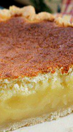 Lemon Sponge Pie ~ An easy pie to make with perfect lemon flavor