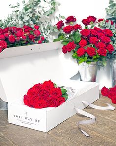 A Glorious Box Full of Red Roses