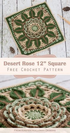 Crochet Squares Afghan, Crochet Blocks, Granny Square Crochet Pattern, Crochet Stitches Patterns, Crochet Designs, Granny Squares, Crochet Granny, Free Crochet Square, Granny Granny