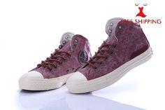 Converse Chuck Taylor Mid-Top Denim Shoes Purple