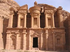 Petra in Jordan. One of the 7 Wonders of the World