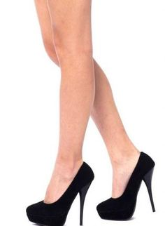 Sueded High Heel Shoes. Cute!