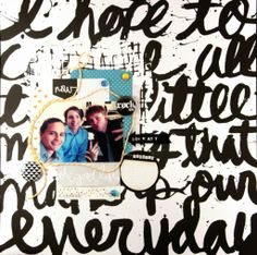 Andrine & Marens Landhandleri: LO - Brush Script - Rock On LindaBrun Brush Script, Text Me, Scripts, Atc, Hello Everyone, Have Fun, Craft Projects, Mixed Media, Teresa Collins