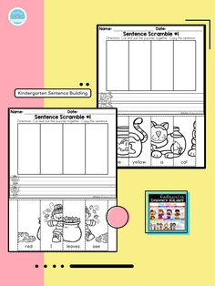 Kindergarten Sentence Building is an ideal package for students! A great combination of a fantastic and fun way to engage reading and fine motor skills with puzzles and sentence practice! . . . . #teachingbiilfizzcend  #teachingbiilfizzcendproducts #kindergarten  #teacherspayteachers #tpt #tptseller #tptteachers #iteachtoo #iteachfirst #teachersofig #teachersfollowteachers #iteachk #earlychildhood #earlychildhoodeducation #backtoschool #firstdayofschool #finemotorskills First Grade Writing, First Grade Math, Homeschool Kindergarten, Kindergarten Writing, Sentence Building, Writing Station, Thing 1, Common Core Reading, Sight Word Activities