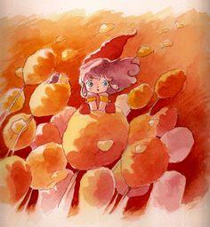 memole fanart watercolors on paper you can buy it here LCA:IT:1123 ^-^