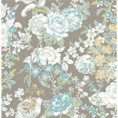 Brewster Wallcovering Kismet Grey Non-Woven Floral Wallpaper