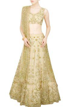 Astha Narang presents Pastel embellished lehenga set Floral Lehenga, Lehenga Style, Bridal Lehenga, Indian Dresses, Indian Outfits, Lehenga Online Shopping, Ethenic Wear, Golden Dress, Latest Fashion Design
