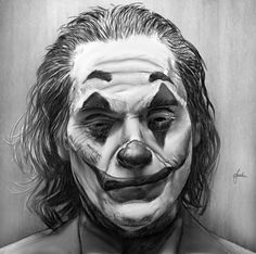 Drawings and paintings by artist David Theron. Found via the April Reader Submissions post. More images below. David Theron's Website Badass Drawings, Joker Drawings, Batman Drawing, Marvel Drawings, Realistic Drawings, Pencil Sketch Drawing, Pencil Art Drawings, Art Sketches, Joker Kunst