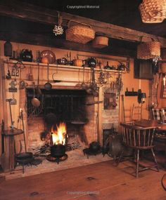 I would have nice wing chairs in a big box plaid and an ottoman in front of this hearth so that you could enjoy the fire while listening to great music, visiting or listening to the rain...