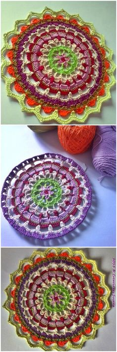We are sharing here free crochet mandala patterns that differ from each other in style, geometric patterns and in color schemes!Crochet Petalos Mandala