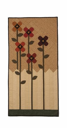 Kansas Troubles Quilters, like the fence idea but do Dresden flowers