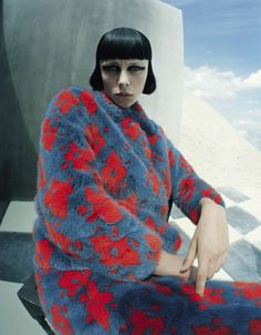 """""""Check-Mate"""" with Edie Campbell by Tim Walker for Vogue Italia December 2015, styled by Jacob K"""