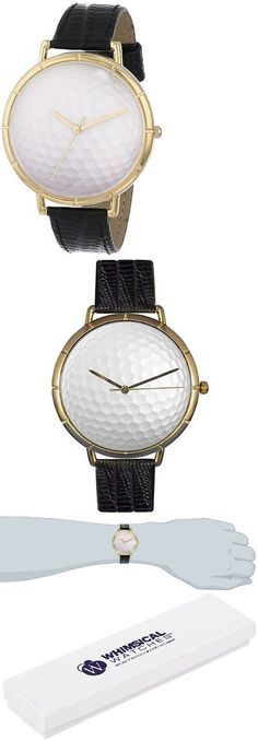 Other Wholesale Wristwatches 40133: Whimsical Watches Mens N0840009 Golf Lover Black Leather And Goldtone Photo BUY IT NOW ONLY: $54.55