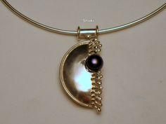 Necklace. 925 Silver. Labradorite.