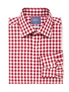Gingham patterned dress shirt
