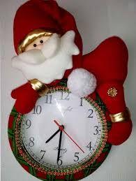 Resultado de imagen para moldes para reloj navideño