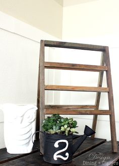 How To Make A Vintage-Inspired Mini Ladder :: design, dining and diapers