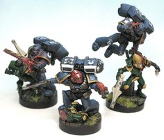 40k - Ultramarines Assault Marine Squad doing some actual assulting! by Winterdyne Commission Modelling