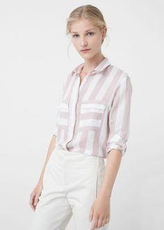 Camisa estampada fluida - Camisas de Mujer | MANGO España