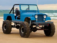 1981 Jeep Scrambler Front View Beach Photo 2 Just not lifted, for crying out loud. Super shitty for the suspension. Even on a Jeep. Jeep Tj, Jeep Wrangler, Jeep Willys, Jeep Store, Customised Trucks, Honda Scrambler, 4x4 Trucks, Lifted Trucks, Cars Motorcycles