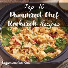 Easy+No-Stir+Risotto+-+The+Pampered+Chef® One of my favourite, EASY recipes. If you already own the Pampered Chef Rock croc, you can make this meal in 20 in the microwave. Prep to table - 30 min! No kidding Rockcrok Recipes, Pampered Chef Recipes, Baker Recipes, New Recipes, Dinner Recipes, Cooking Recipes, Favorite Recipes, Easy Recipes, Dinner Ideas