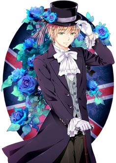Day 20 - Character I'd want as a butler : (Black Butler affected my choice ALOT) England! I'm imagining him as the butlers from the Victorian Eras. I'd treat him nicely and I'd try not to trouble him as much as I could!!!