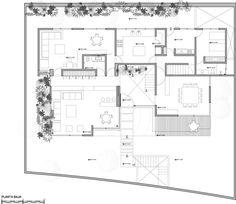 Classic House Design, Duplex House Design, Modern House Design, Small House Plans, House Floor Plans, Duplex Plans, Villa Plan, Room Planning, Facade House