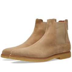 Buy the Common Projects Chelsea Boot in Khaki Suede from leading mens fashion retailer END. - only Fast shipping on all latest Common Projects products Chelsea Shoes, Suede Chelsea Boots, Common Projects Chelsea Boots, Botines Casual, Men's Shoes, Shoe Boots, Mens Boots Fashion, Men's Fashion, Spring Boots
