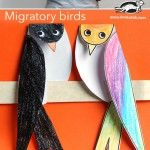 cute bird craft to go along with migration lesson
