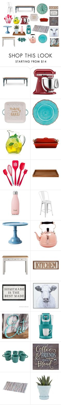 """""""Kitchen Update"""" by carlsontaylor1 on Polyvore featuring interior, interiors, interior design, home, home decor, interior decorating, KitchenAid, Frontgate, Luigi Bormioli and Le Creuset"""