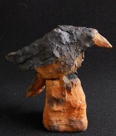 Rabe Abraxas aus Keramik